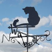 Cat and Mouse Weather Vane